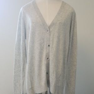 Cabi button up sweater w/ zipper up backing